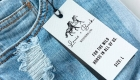 L and B Jeans Tag